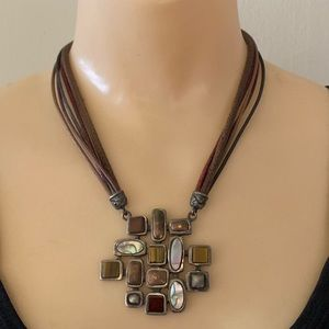 Chico's 'Rare' Mother of Pearl Boho Style Necklace